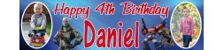 4th Birthday Party Banner 4
