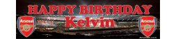 Arsenal FC Themed Birthday Banner