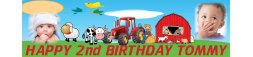 Farming Theme Birthday Banner
