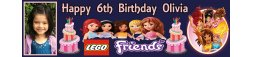 Lego Friends Birthday Banner