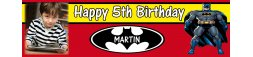 Batman Themed Birthday Party Banner