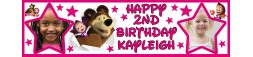 Masha & The Bear Themed Birthday Banner