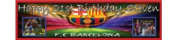 Barcelona FC Themed Birthday Party Banner