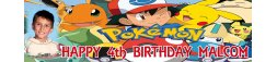 Pokemon Theme Birthday Banner