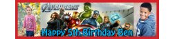 Avengers Themed Birthday Party Banner