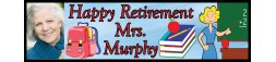 Retirement Party Teacher Theme Banner