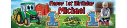 Johnny Tractor Themed Birthday Banner