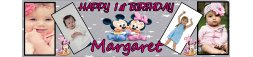 Minnie Mouse Themed Birthday Banner