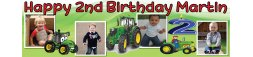 Tractors Theme Birthday Banner