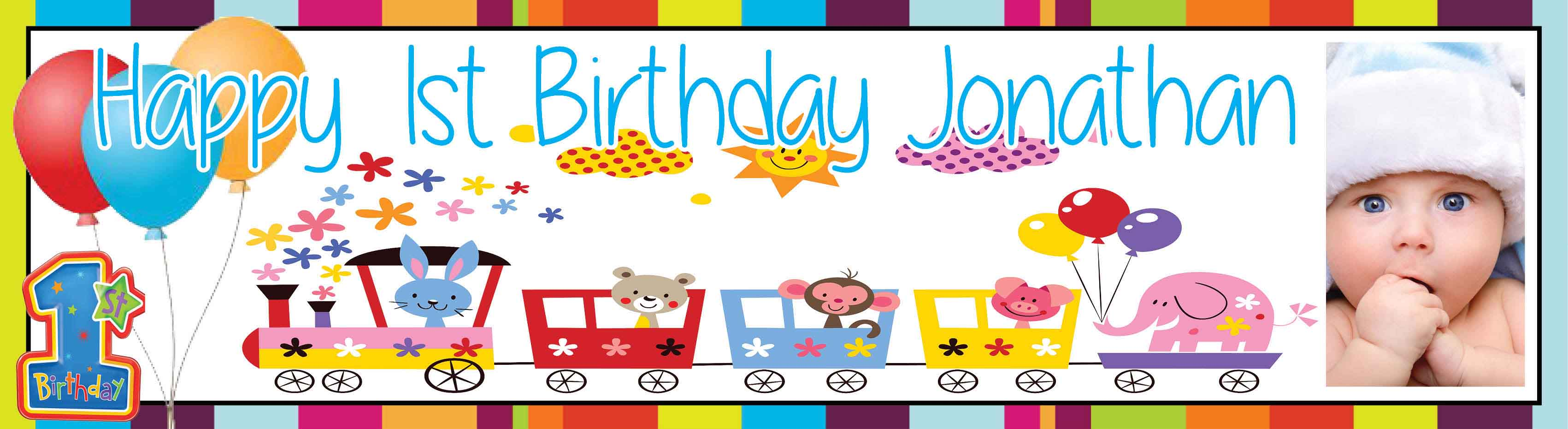 1st Birthday Party Banner 10