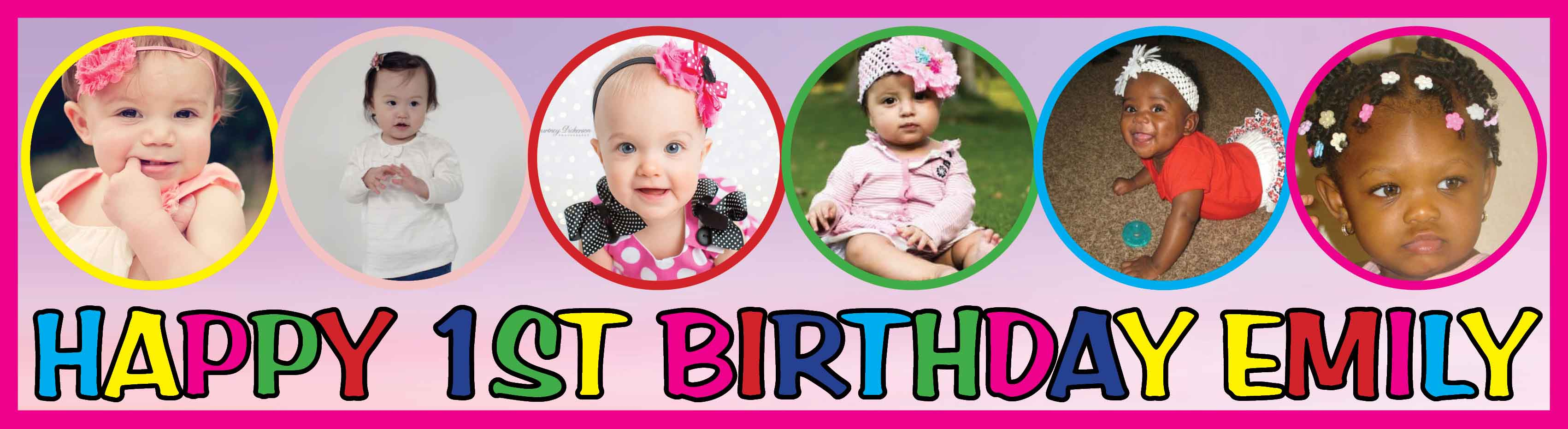 1st Birthday Party Banner 21