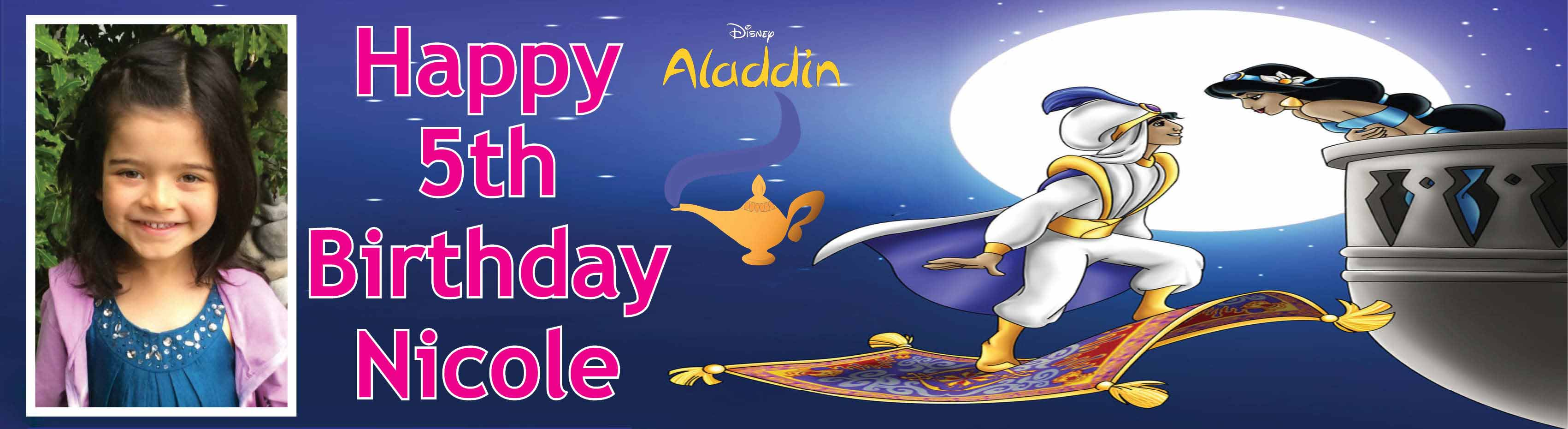Aladdin Theme Birthday Banner