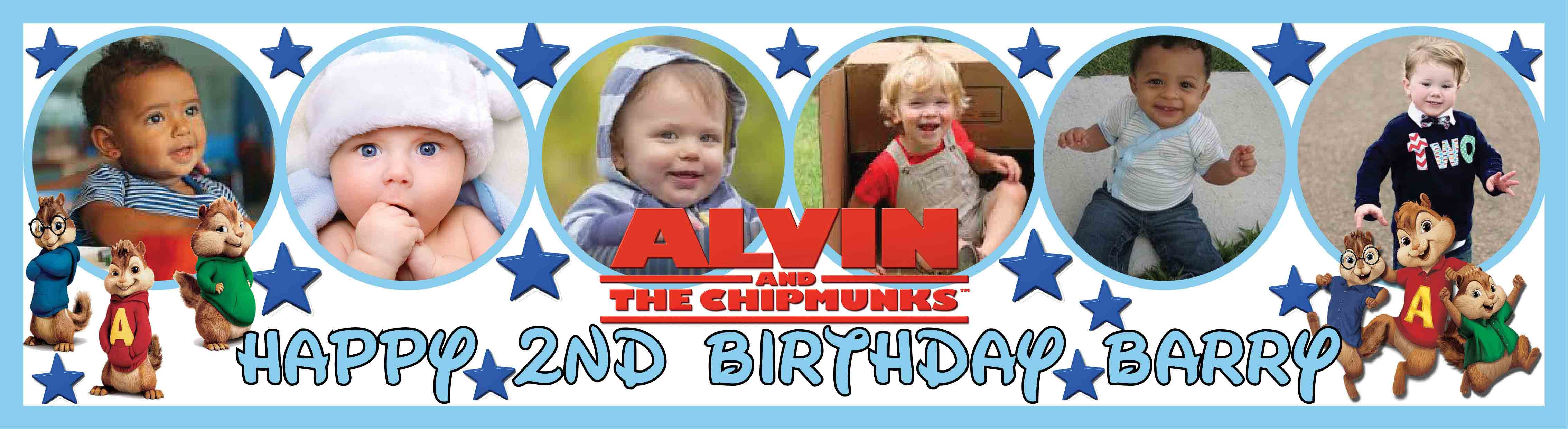 Alvin & the Chipmunks Birthday Banner