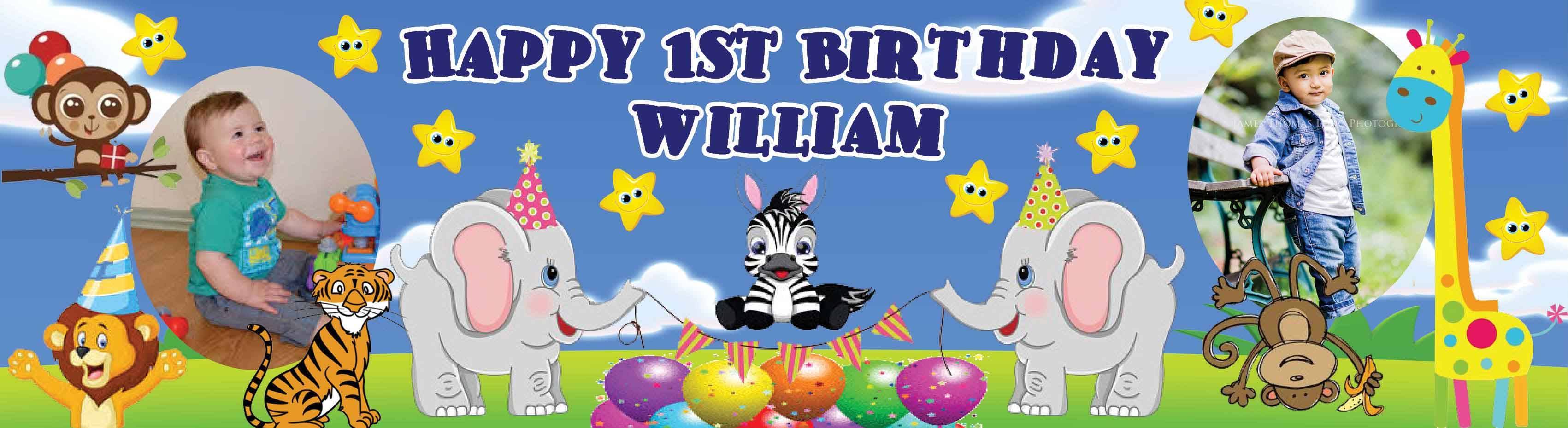 Animals Theme Birthday Banner