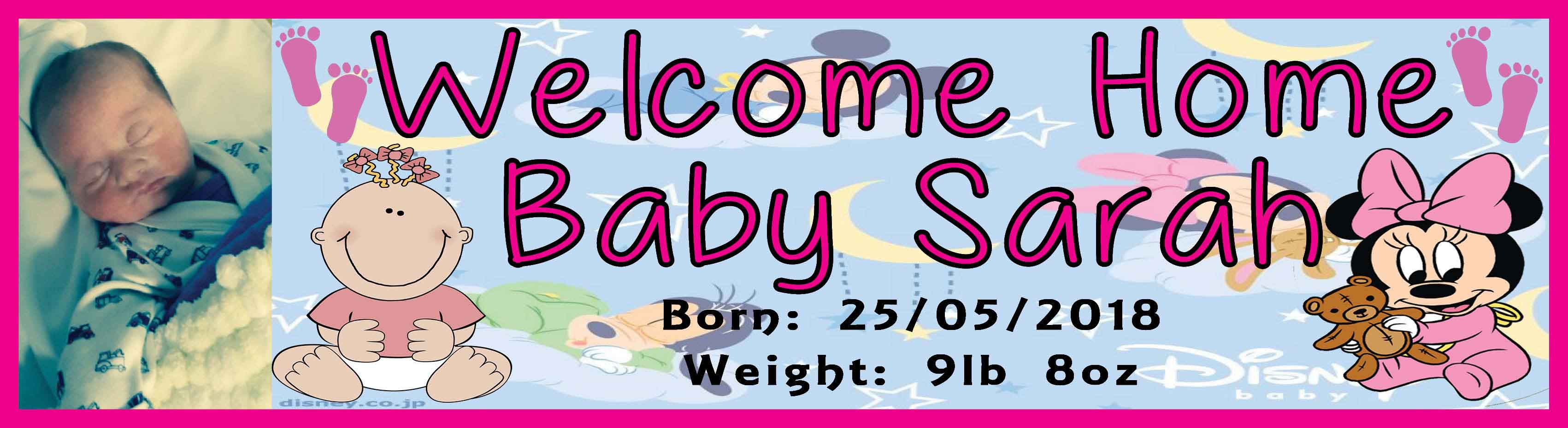 welcome home baby banner