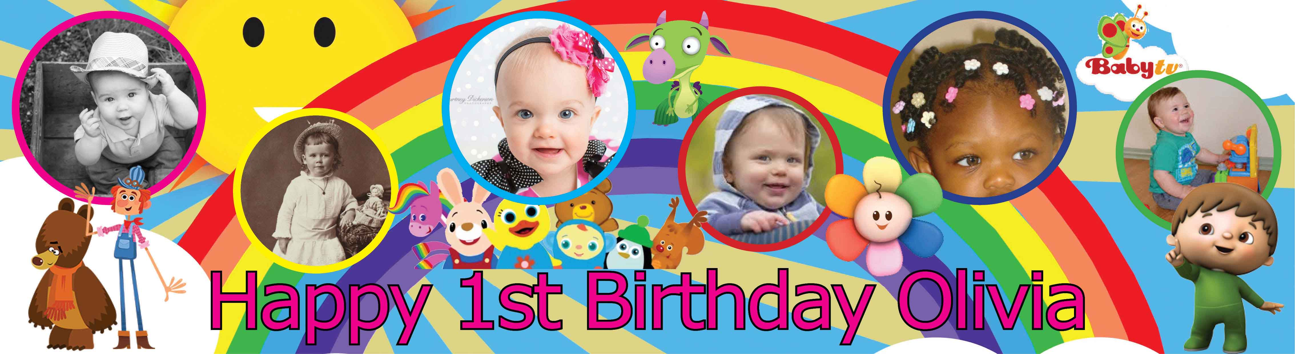 Baby Tv Themed Birthday Banner 2