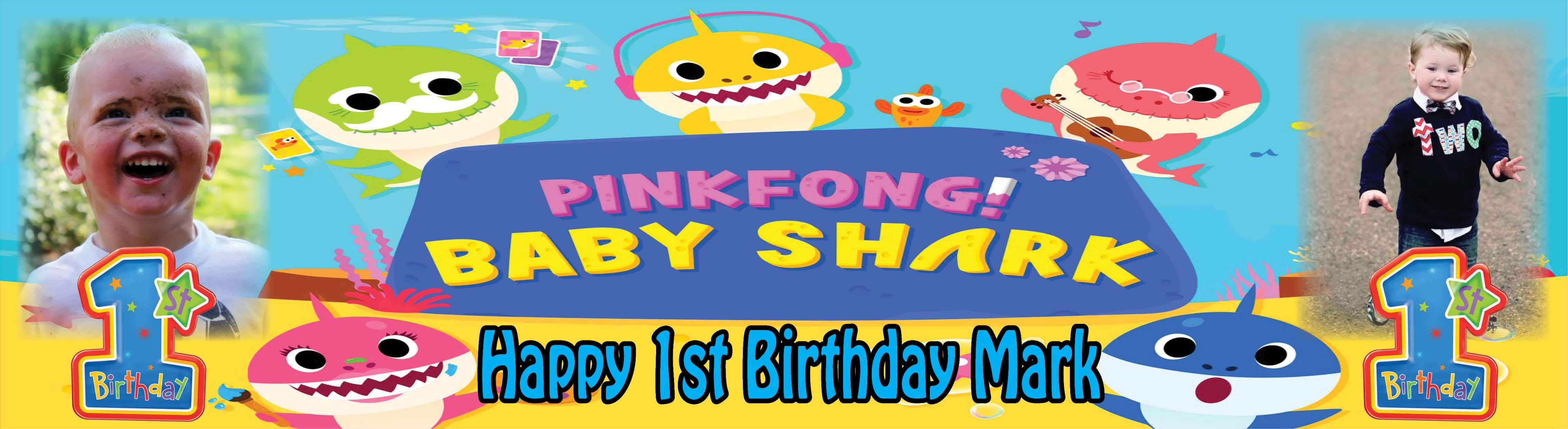 Baby Shark (Pinkfong) Birthday Banner