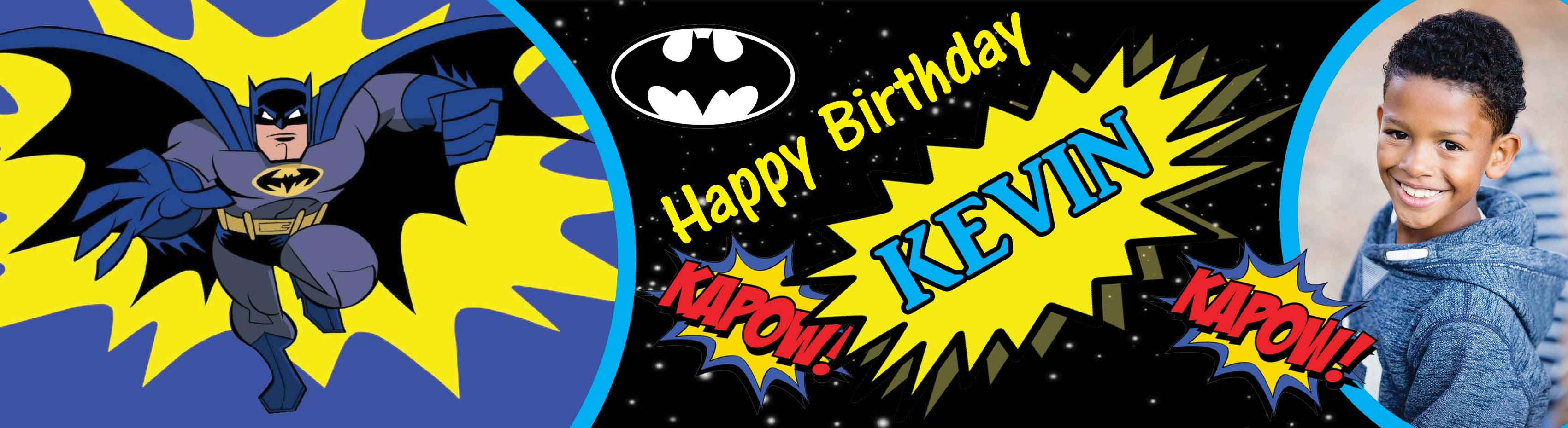 Batman Themed Birthday Party Banner 2