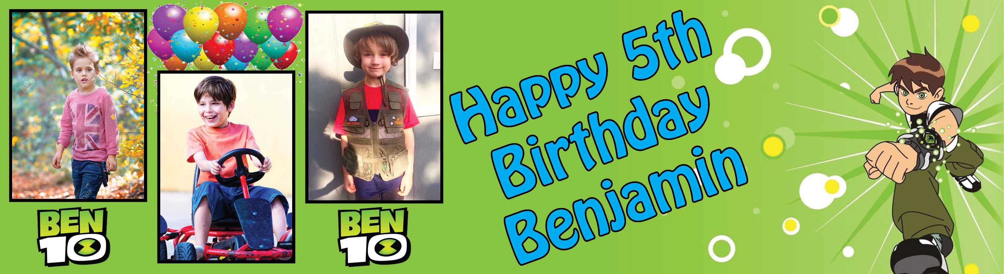 Ben 10 Birthday Banner