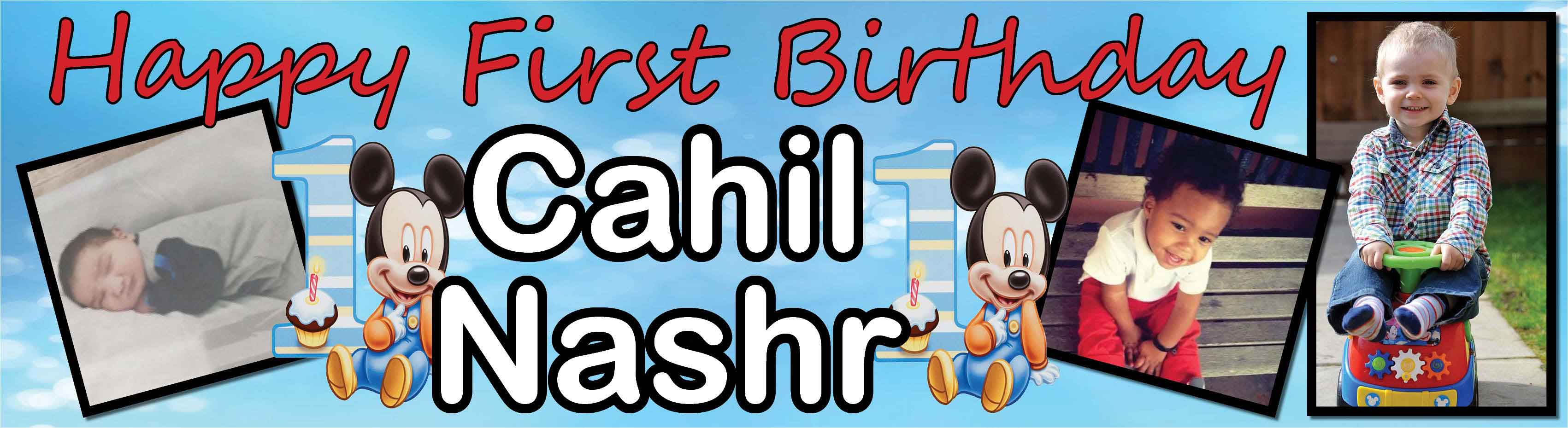 1st Birthday Party Banner
