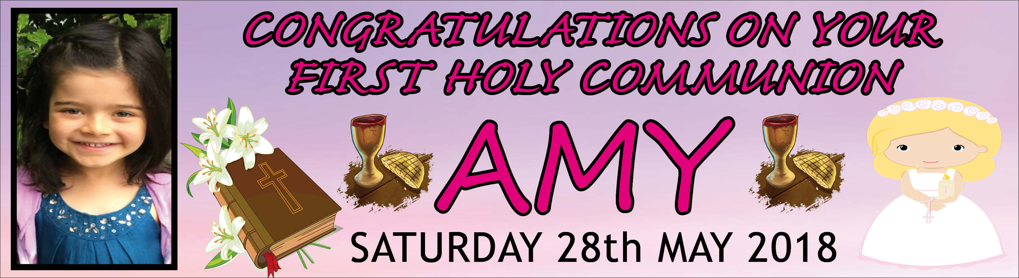 1st Holy Communion Banner 9